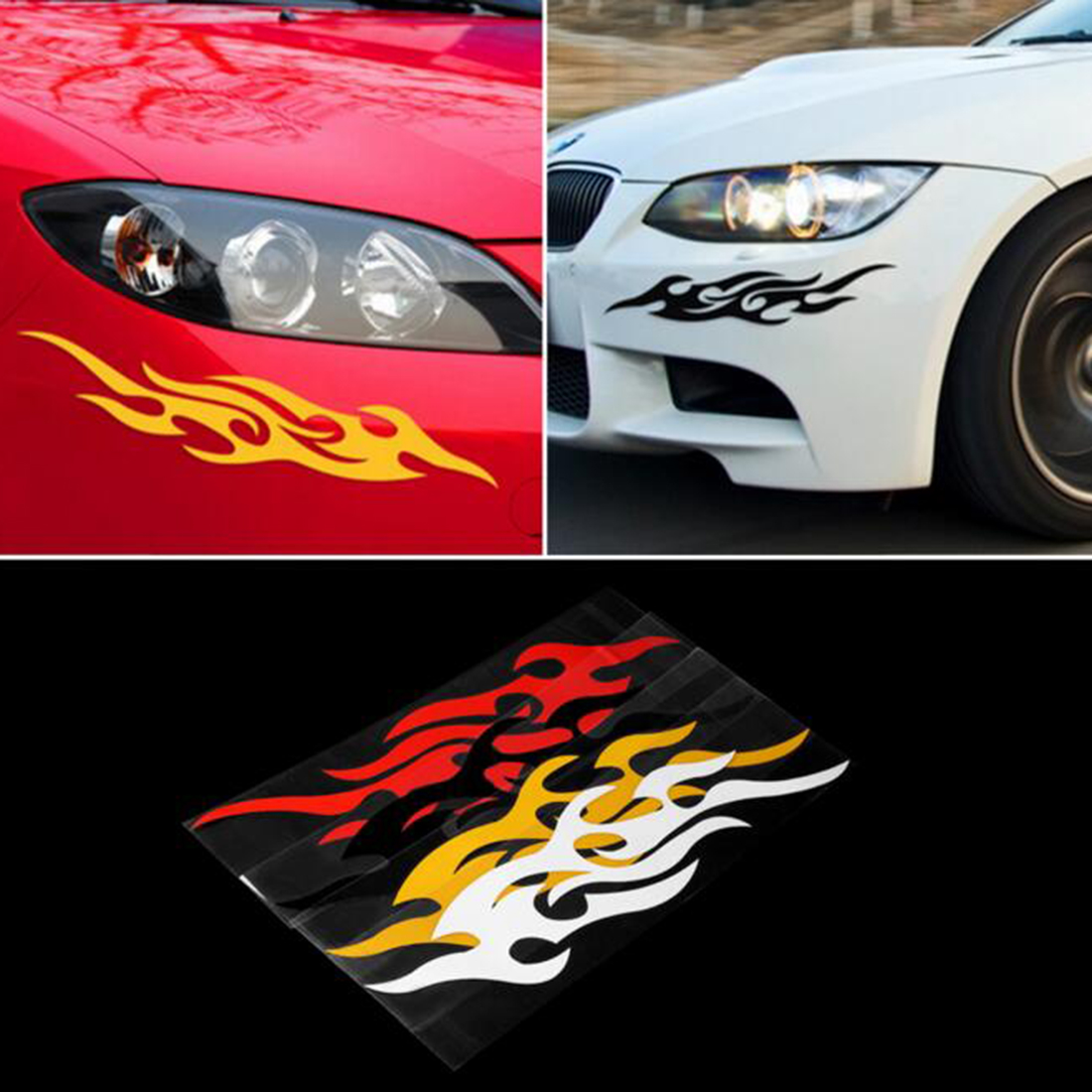 Design a car sticker online - Universal Car Styling Sticker Engine Hood Motorcycle Decal Decor Mural Vinyl Covers Accessories Auto Flame