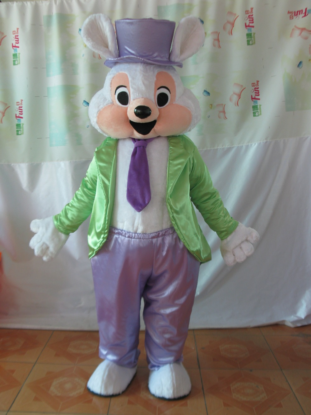 Quality Mascot Pink Easter Bunny Mascot Costume with Adult Size Fun Easter Holiday Rabbit Mascot Suit Fancy Dress(China (Mainland))