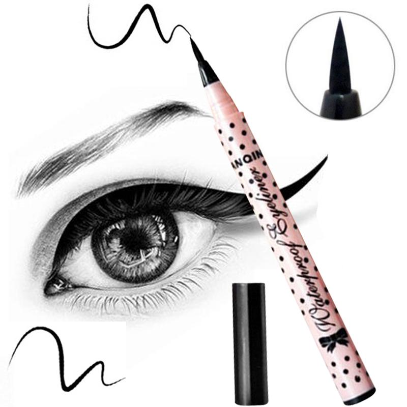 1 PCS HOT Women Lady Beauty Makeup Black Eyeliner Waterproof Long-lasting Liquid Eye Liner Pencil Pen Make Up Cosmetic Cute Tool(China (Mainland))