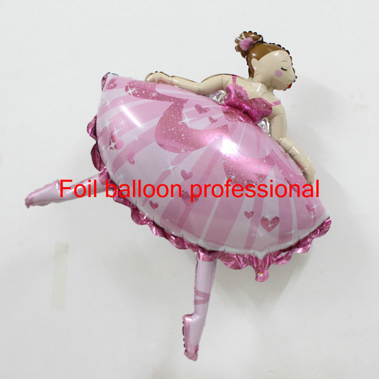 50pcs/lot 84*113cm pink dancing ballet girl balloons for party decoration baby shower girl globos party decoration birthday gift<br>