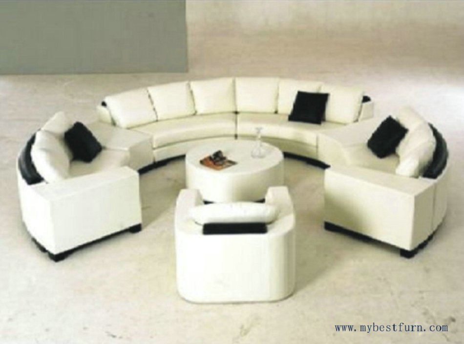 Luxury Extra Large Leather Sofa, Round Shaped Sofa, Hotle, Villa Sofa Set S8583<br>