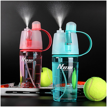 400ML/600ML Sport Water Spray Bottle Space Cup Leak Proof Moisturizing Cycling Sports Gym Drinking Bottles - SIQing Creation Life Store store