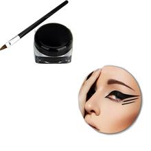 Hot Sale Black Waterproof Eyeliner Cel Beauty  Makeup For Eyes Cosmetic Liquid Eye liner With Brush Kit &Set(China (Mainland))