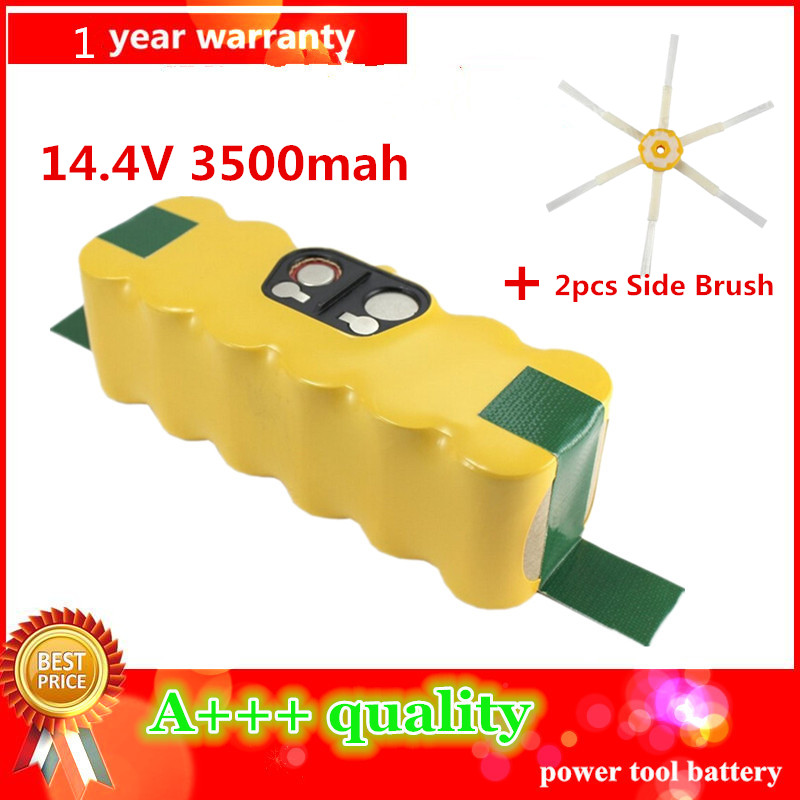 3500mAh High Quality New Battery Pack for iRobot Roomba 500 510,530,535,540,550,560,570,580 Battery Robotics+2pcs Side Brushes(China (Mainland))