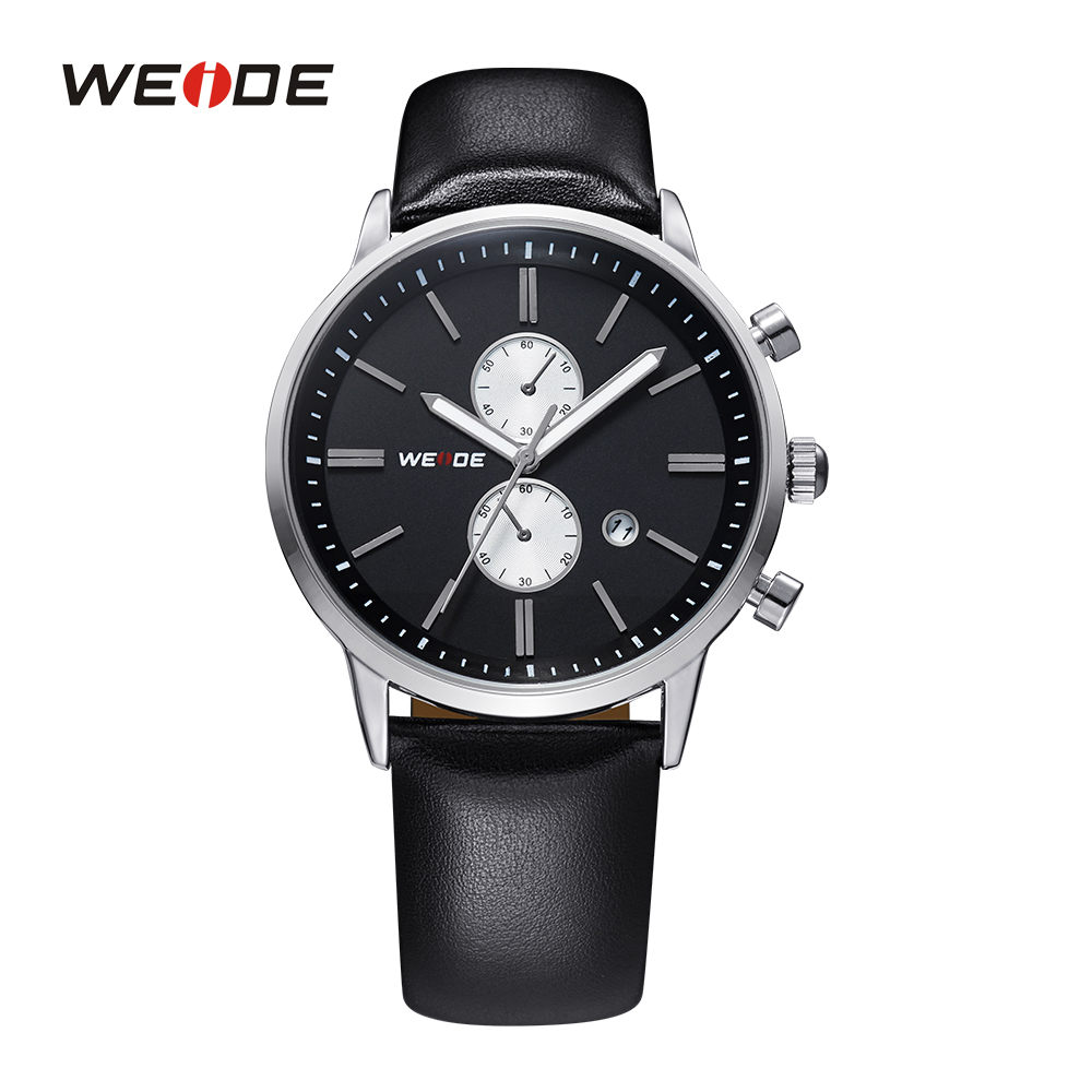 WEIDE Top Sale Mens Quartz Watch Military Watch Sport Watch  Genuine Leather Strap 30m Waterproof Wristwatches Gifts for Men<br><br>Aliexpress
