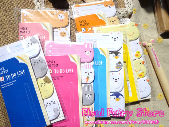 Wholesale Stationery 8 Design Cute Animal Memo Pad stickers Note pads 24pcs/lot Ship mix<br><br>Aliexpress
