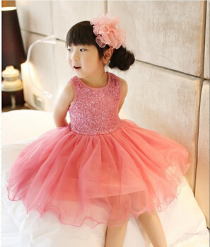 Baby Girl Dress 2015 Summer Sequin Baby Girl Clothes Princess Tutu Children's Dresses kids Clothes,vestidos infantis(China (Mainland))