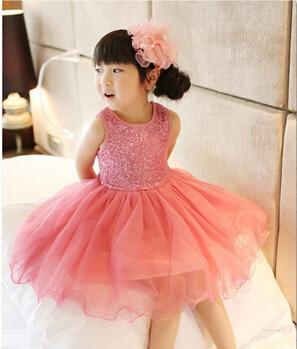 Baby Girl Dress 2015 Summer Sequin Baby Girl Clothes Princess Tutu Children's Dresses kids Clothes,vestidos infantis(China (Mainland))