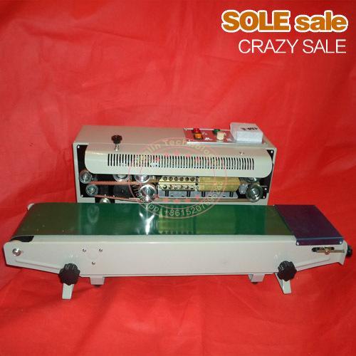 Automatic bags sealing machine, food package sealer, plastic bag sealer, aluminum foil sealer, DF900, 220V, packaging machine(China (Mainland))
