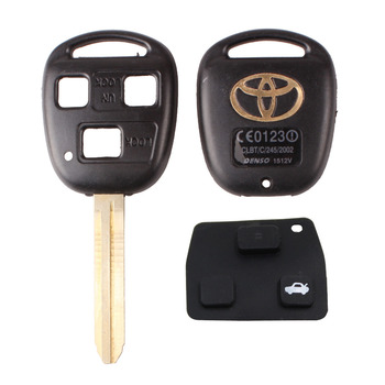 New 3 Buttons Remote Key Shell For Toyota YARIS HIACE COROLLA AVENSIS CAMRY