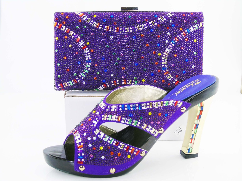 Fashion Italian Shoes With Matching Bags For Party, High Quality Shoes And Bags Set for Wedding(Szie:37 or 43)! HRT1-12