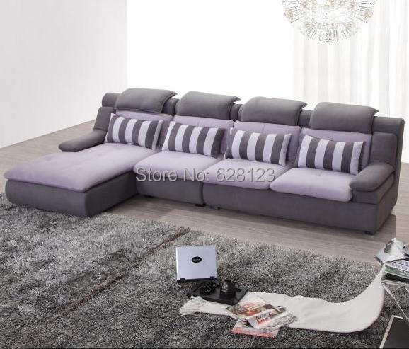 Kw1206 fabric sofas cbrl high back comfortable l shape for Comfortable family sofa
