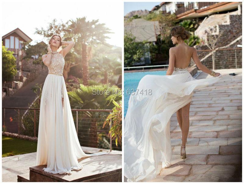 New Arrived Elegant Simple Wedding Dress Beach Wedding Dress Summer Bohemain