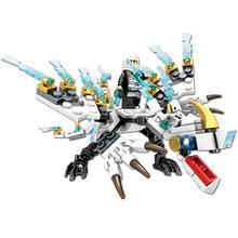 Pequenos Tijolos DIY Blocos de Construção de Brinquedos Para Meninos Amigos Ninja Dragon Knight Série Compatível Com Legoing Construção(China)