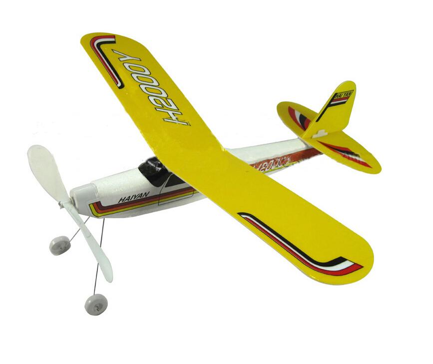 hot modelism gemonteerd rubberen band elastische vliegtuig model speelgoed kinderen verjaardagscadeau schuim romp rubberen band elastische 3d(China (Mainland))