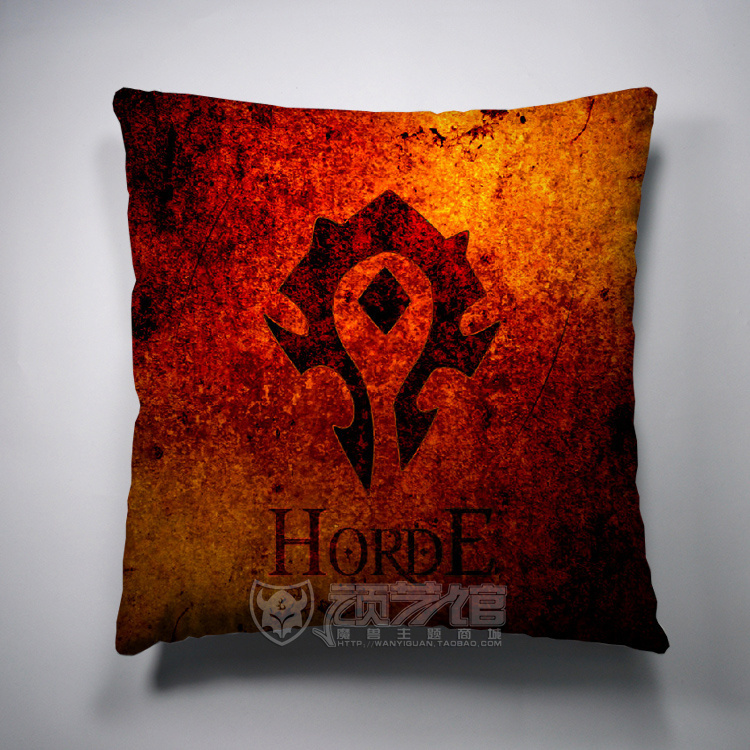World Warcraft Tribe Cushion cover pillow case Decorative covers HD double-side Rich colors printing - Lisa's Mall store