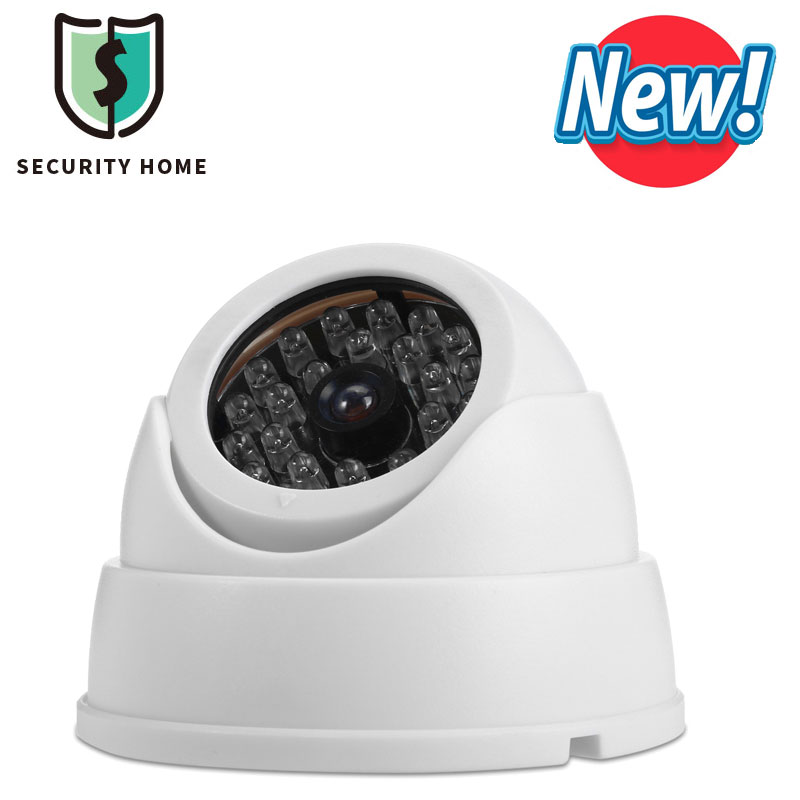 Surveillance Dummy Camera Fake Realistic Security Fisheye Camera Outdoor/Indoor CCTV Camera With Flashing LED Light For Home(China (Mainland))