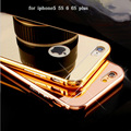 Luxury Mirror Electroplating Aluminium Metal Case for Apple iPhone5 5S 6 6s plus Thin Frame Protector