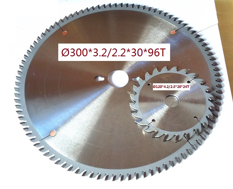 1pc 300mm Main Blade 1pc 120mm Scoring Blade For Sliding Table Saw Running Saw Machine Premium