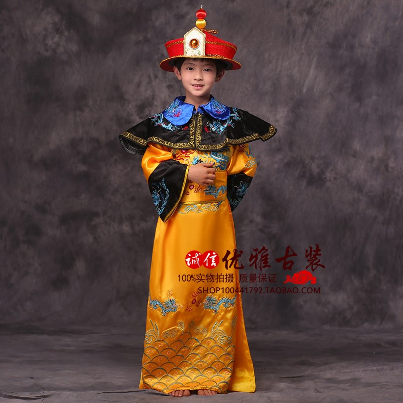 China Adultos niños ropa emperador emperador chino traje trajes antiguos chinos príncipe ropa bata emperadores de la dinastía tang(China (Mainland))