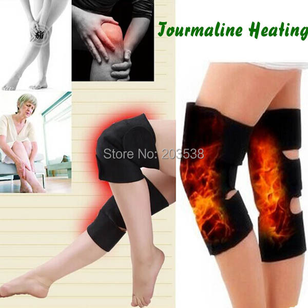 2015 Tourmaline Kneepad Spontaneous Knee Protection Massager Magnetic Therapy Heating Belt Massageador 1 Pair ( 2 piece)(China (Mainland))