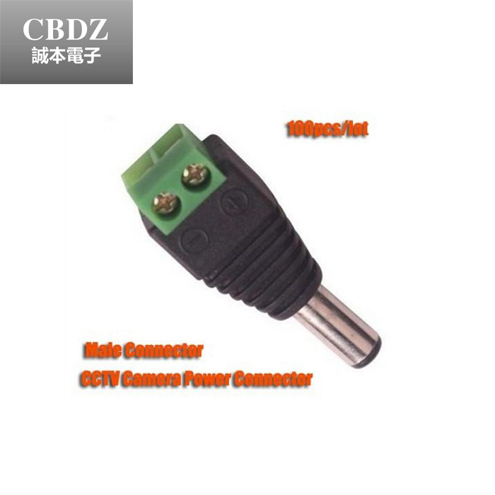20pcs/lot DC Male Jack CCTV DC Connector Power Plug for Security CCTV Camera System 2.1 x 5.5mm CBDZ(China (Mainland))