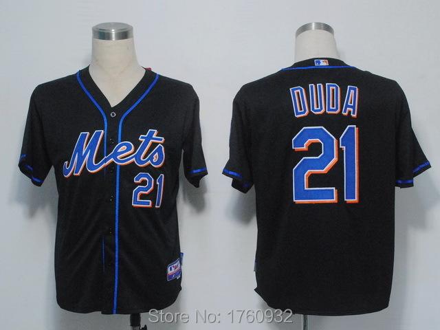 2015 Popular Baseball Jersey New York Mets #21 Lucas Duda Cool Base Blue White Grey Mens discount - USA Store store