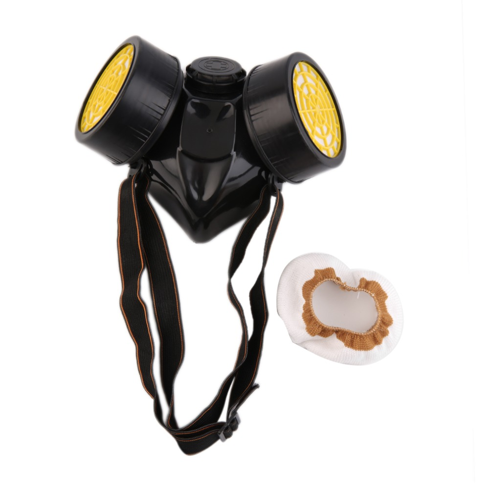 Emergency Survival Safety Respiratory Gas Mask With 2 Dual Protection Filter Hot Selling<br><br>Aliexpress