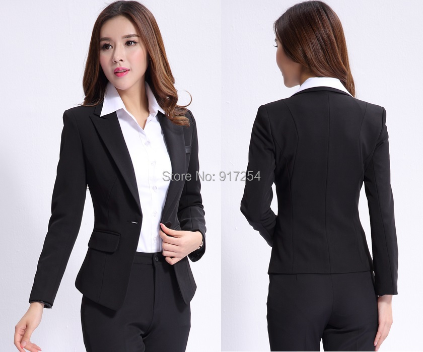 Formal Pantsuits Uniform Design 2014 Autumn Winter Professional Business Work Wear Suits Tops And Pants Office Beautician SetОдежда и ак�е��уары<br><br><br>Aliexpress