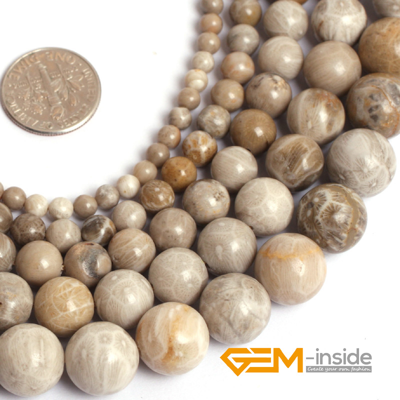 """Chrysanthemum stone coral fossils stone beads natural stone beads DIY loose beads for jewelry making strand 15"""" wholesale !(China (Mainland))"""