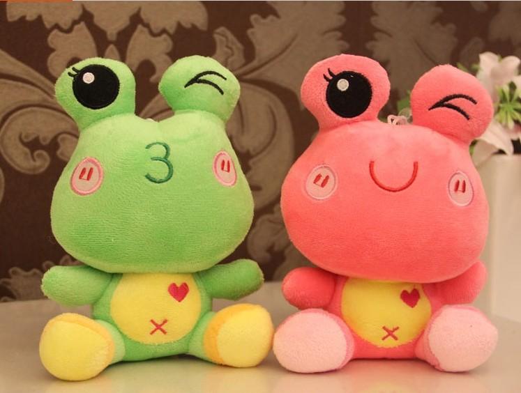 Baby toy Frog Prince doll cartoon frog plush toys / valentine birthday gift toy 1pcs Free shipping(China (Mainland))