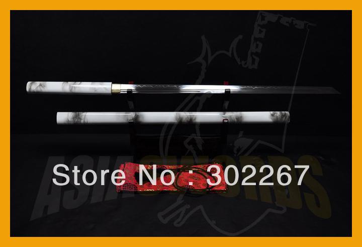 ASIASWORDS T10 1095 Clay Tempered SHINOGI-ZUKURI Samurai Japan Shirasaya Ninjato Katana Sword #260