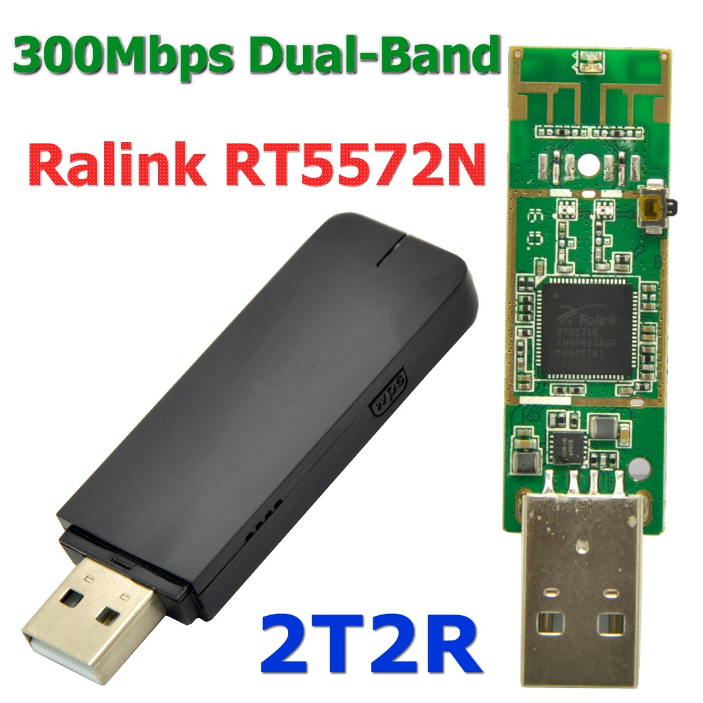 NEW Ralink RT5572 300Mbps 802.11AC Wireless USB WiFi Adapter Wi Fi Receiver with 2DBi PCB Antenna for Dream Box/ STB/ IPTV(China (Mainland))
