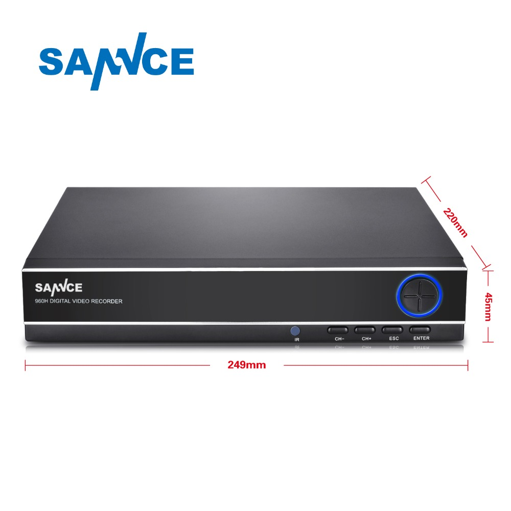 SANNCE 4 Channel 8 Channel AHD DVR AHDM 720P/960H Security CCTV DVR 4CH 8CH Mini Hybrid HDMI DVR Support Analog/AHD Camera(China (Mainland))
