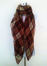 Free Shipping 2015 New Fashion Brand Tartan British Red Blue Beige Coffee Plaid Checked Scarves Snood For Women/Ladies