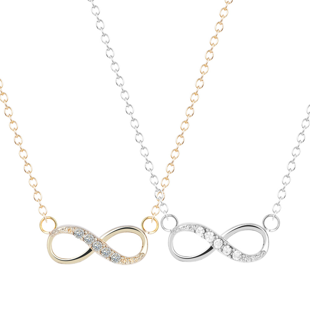 Handmade Jewelry New Arrival Fashion Tiny Infinity Necklace Personalized friendship designer jewellery couple necklaces(China (Mainland))