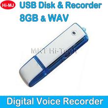 2015 Professional USB Flash Drive Digital Hidden Spy Voice Recorder 8GB Mini Dictaphone 150 Hours Audio Recording Pen WAV Format(China (Mainland))