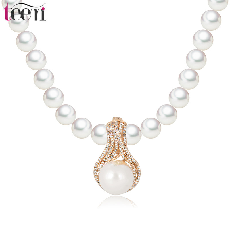 Teemi Wholesale Stock 1 PC Noble Pure White Plastic Pearl Beaded Wedding Party Jewelry Fashion Waterdrop Pendant Choker Necklace(China (Mainland))