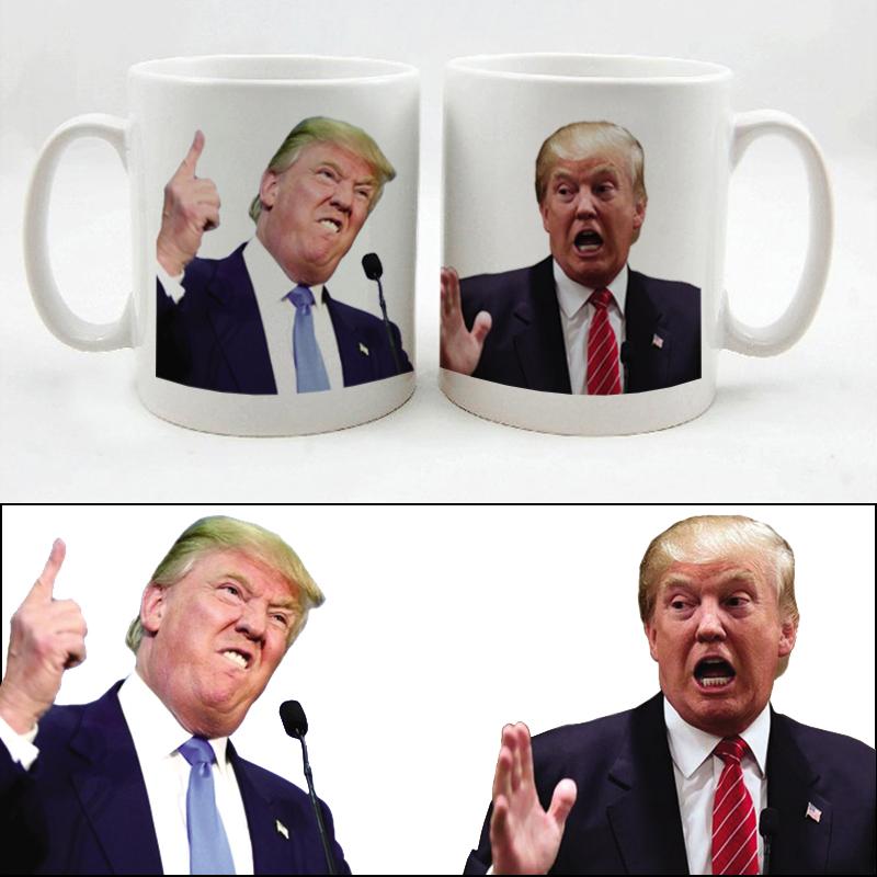 New Design Donald Trump Printing Coffee Mug Tea Cup White Color(China (Mainland))