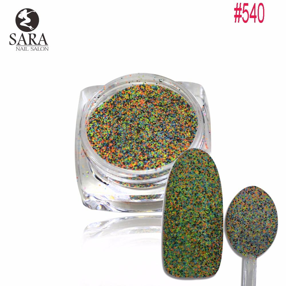 1.5g Profunda Mista Cores Açúcar Brilho Da Arte do Prego Etiqueta Encantador Dazzling Mulheres Beleza Unhas Cuidados de Beleza Decorações #534-542