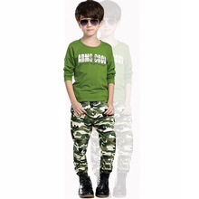 2015 New Camouflage Kids Clothing Sets for Boys&Girls Spring Autumn Cotton Camo Sets Children's 3pcs/set (Vest + hoody + Pants)