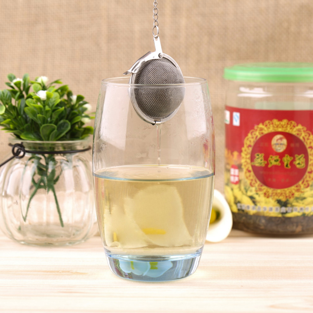 1PC New Stainless Steel Tea Infuser / Filter / Strainer / Ball for Loose Leaf Tea Hot Sales(China (Mainland))