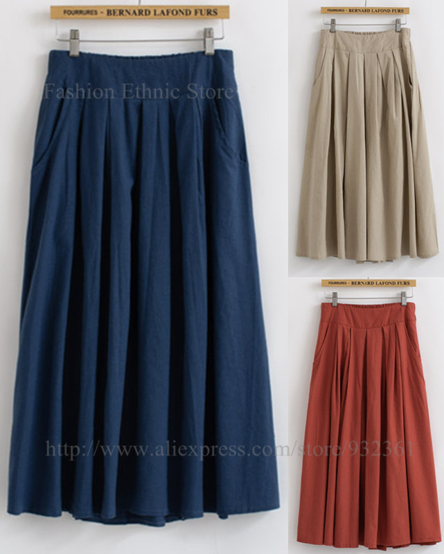 aliexpress buy vintage cotton linen pleated