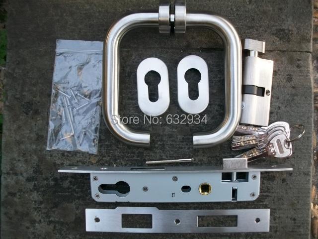 85*20/85*25/85*30 ALUM.DOOR LOCK WITH BRASS CYLINDER,PVC WINDOW AND DOOR LOCK, LOCK FOR NARROW GATE(China (Mainland))