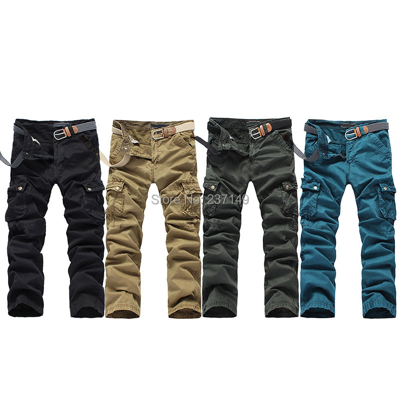 produto Fashion mens Como Casual Combat Cargo Pants Multi-Pockets Trousers cotton pants for free shipping for free shipping