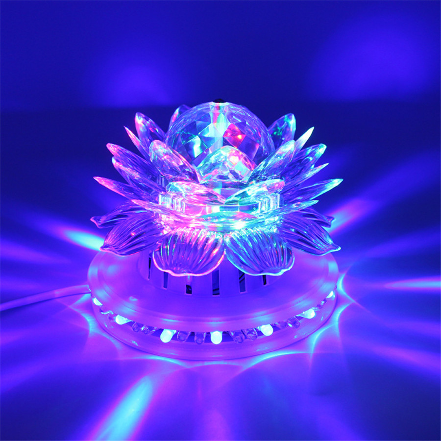 Voice Control Crystal Magic Ball Rotating Led Stage Lamps Disco Club DJ Party Sound Control Christmas Laser Projector(China (Mainland))
