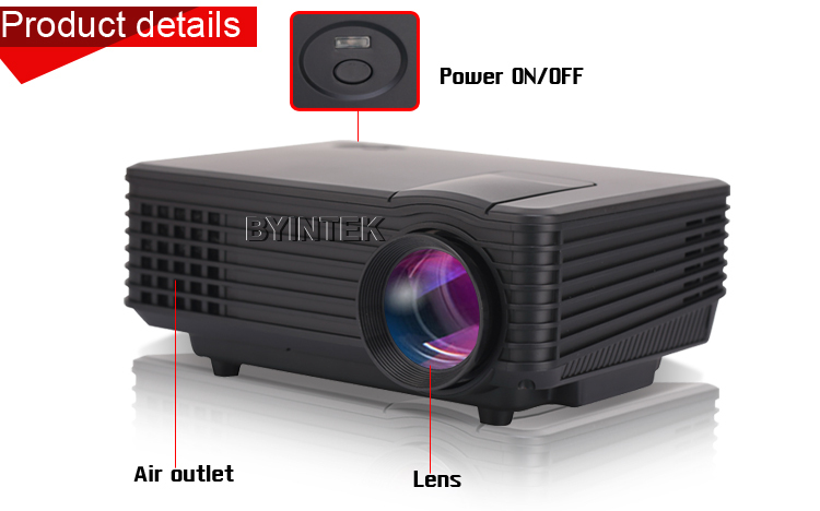 2015 best brand byintek mini projector home theater video for Best small hd projector
