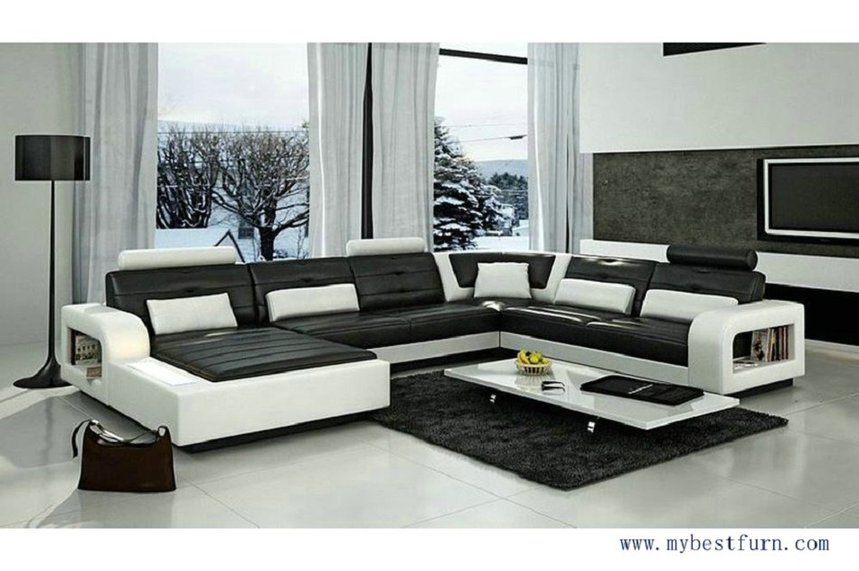 My bestfurn sofa modern design elegant couch luxury style sofa set with bookshelf fashion and - Modern living room furniture set ...