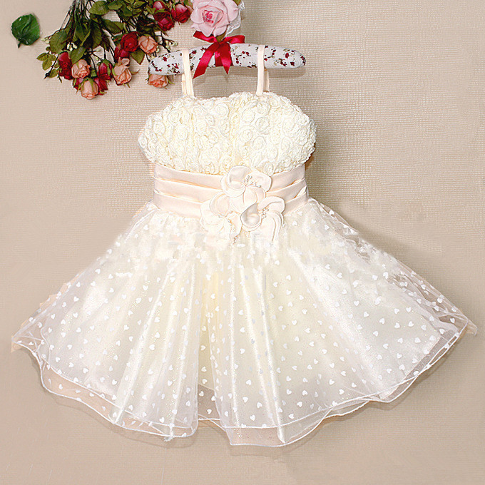 2014 Fashion princess dresses summer baby girls clothes childrens party dress lovely kids three-dimensional flower dresses<br><br>Aliexpress