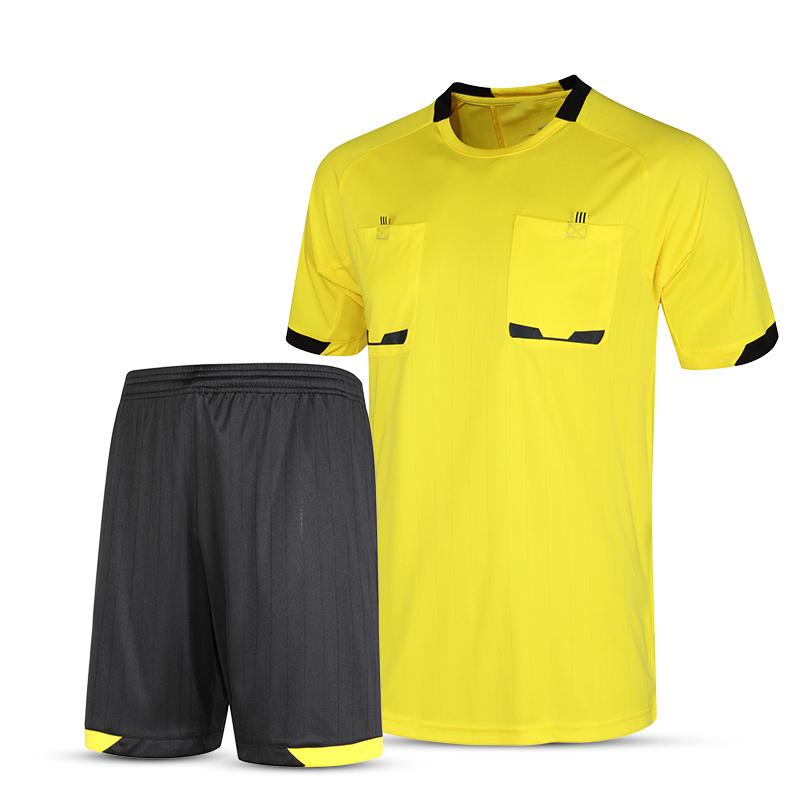 2016 New Professional Survetement Soccer Referee Jersey Sets Thai Football Referee Judge Uniform Short Shirt Tracksuits(China (Mainland))